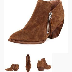 Sigerson Morrison brown suede zip up booties